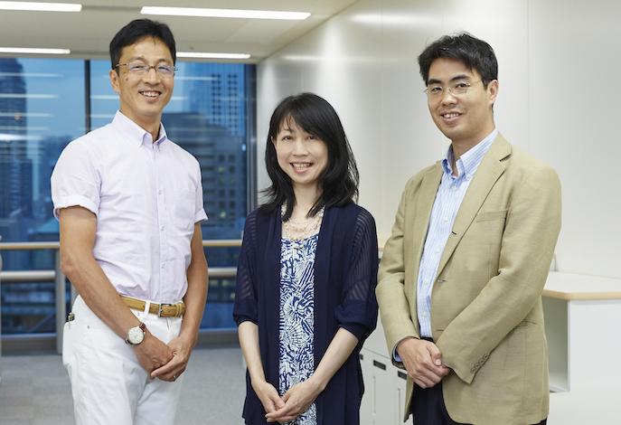 左から川島高之さん、大塚玲子さん、川上慎市郎さん