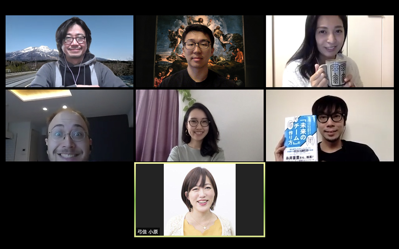 My team during a web conference