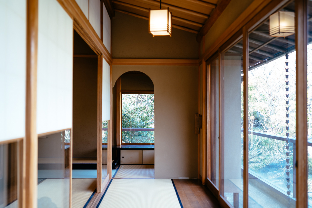 The inside of Ryo Iwamoto's tea house